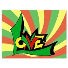 One Love Canvas Art