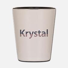 Krystal Stars and Stripes Shot Glass