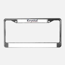 Krystal Stars and Stripes License Plate Frame
