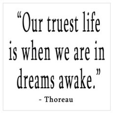 DREAMS AWAKE THOREAU QUOTE Poster
