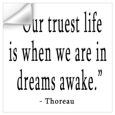 DREAMS AWAKE THOREAU QUOTE Wall Decal