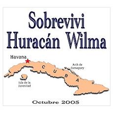 Cuba Huracan Wilma Poster