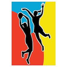 netball player jumping