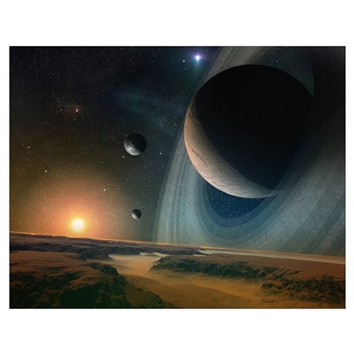Planet scape Poster