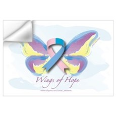 Male Breast Cancer Wings of H Wall Decal