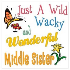 Wild Wacky Middle Sister Framed Print
