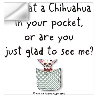 Chihuahua in your Pocket Wall Decal