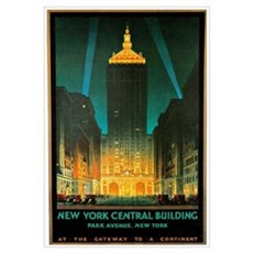 Vintage New York Central Building Poster
