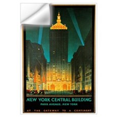 Vintage New York Central Building Wall Decal
