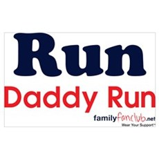 Run Daddy Run Canvas Art
