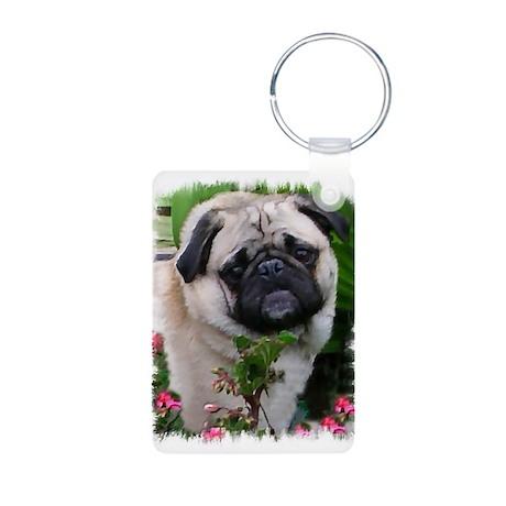 Pug Art Gifts Aluminum Photo Keychain