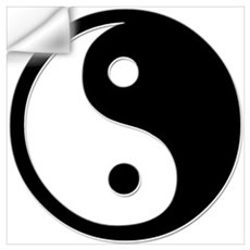 Black Yin Yang Wall Decal