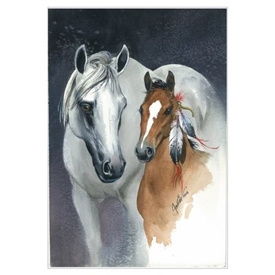 Proud Mary - Mother Horse and Baby Art Print Framed Print