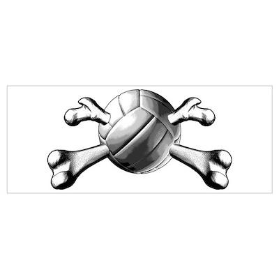 Volleyball Crossbones Poster