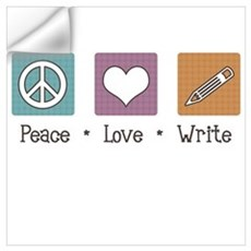 Peace Love Write Wall Decal
