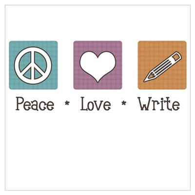 Peace Love Write Canvas Art