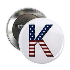 K Stars and Stripes Button
