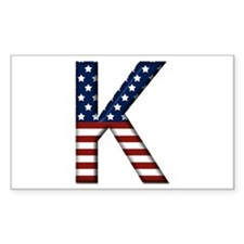 K Stars and Stripes Rectangle Decal
