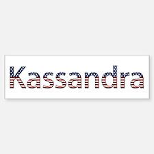 Kassandra Stars and Stripes Bumper Car Car Sticker