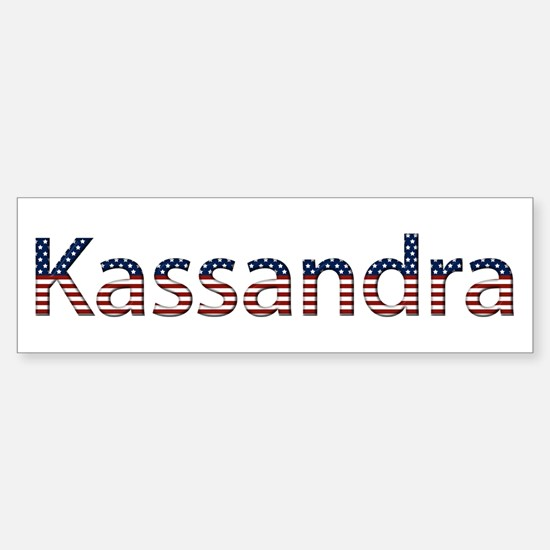Kassandra Stars and Stripes Bumper Car Car Sticker