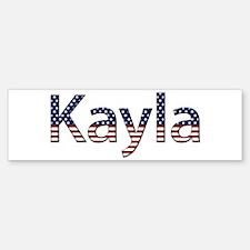 Kayla Stars and Stripes Bumper Bumper Bumper Sticker
