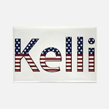 Kelli Stars and Stripes Rectangle Magnet