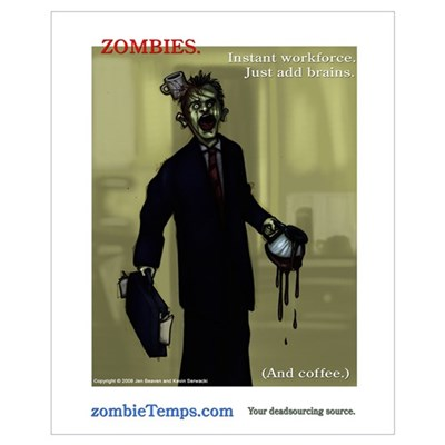 Zombies - Instant Workforce Canvas Art