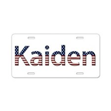 Kaiden Stars and Stripes Aluminum License Plate