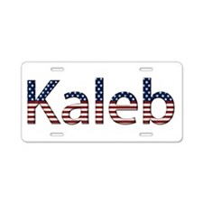 Kaleb Stars and Stripes Aluminum License Plate
