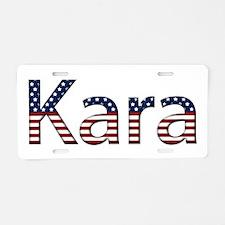 Kara Stars and Stripes Aluminum License Plate