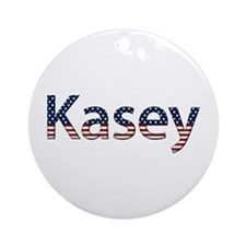 Kasey Stars and Stripes Round Ornament