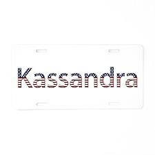 Kassandra Stars and Stripes Aluminum License Plate