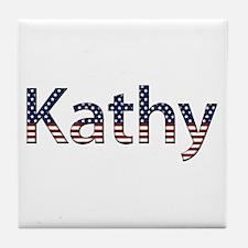 Kathy Stars and Stripes Tile Coaster