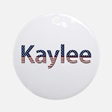 Kaylee Stars and Stripes Round Ornament