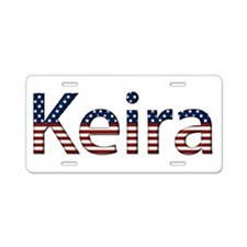 Keira Stars and Stripes Aluminum License Plate