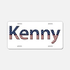 Kenny Stars and Stripes Aluminum License Plate