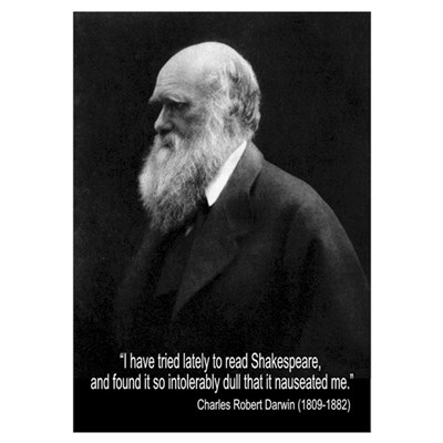 Charles Darwin Quotes Poster