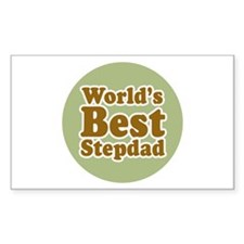 World's Best Stepdad Sticker (Rectangular)