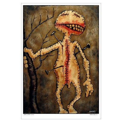 "Angry Johnny ""Voodoo Town #11"" Large Framed Print"