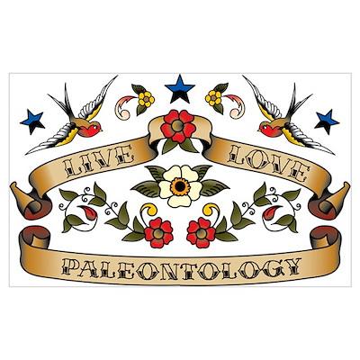 Live Love Paleontology Poster