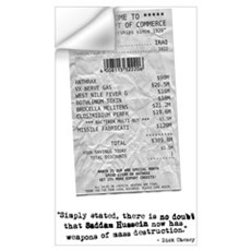 WMD Receipt Wall Decal