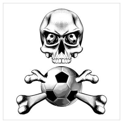 Soccer Skull n Bones Poster