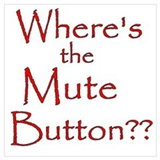Wheres the Mute Button? Framed Print