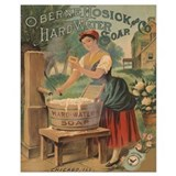Laundry vintage Wrapped Canvas Art