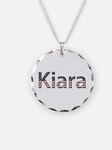 Kiara Stars and Stripes Necklace Circle Charm
