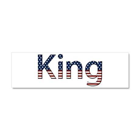 King Stars and Stripes 10x3 Car Magnet