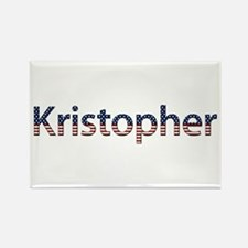 Kristopher Stars and Stripes Rectangle Magnet