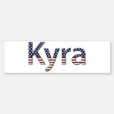 Kyra Stars and Stripes Bumper Bumper Bumper Sticker
