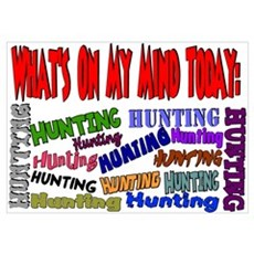 What's on my mind: HUNTING Poster