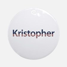 Kristopher Stars and Stripes Round Ornament